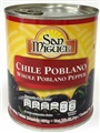 Whole Poblano Peppers - Chiles Poblanos San Miguel