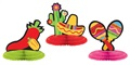 "Fiesta Mini Honeycomb Center Piece 5"" Assorted"