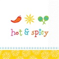 Hot and Spicy Beverage Napkins