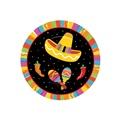 """Fiesta Fun Plates 7"""""""