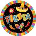 """Fiesta Fun Paper Plates 10 1/2"""""""