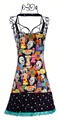 Day of the Dead Skulls Apron / Skeleton Wedding Dark