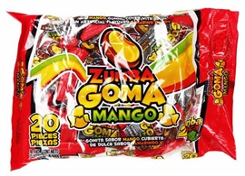 Picture of Zumba Goma Mango 20 pieces - Item No. 03885-01522