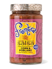 Picture of Frontera Corn & Poblano Salsa with Roasted Garlic and Tomato 16 oz - Item No. 04183-13030