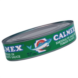 Picture of Calmex Sardines in Hot Tomato Sauce (15 oz) pack of 3 - Item No. 04730-00131
