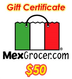 Picture of MexGrocer.com $50 Mexican Food Gift Certificate- Item No.10001