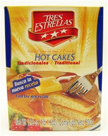 Picture of Tres Estrellas Traditional Hot Cakes - Pancakes 17.6oz/500gr. - Item No. 10055
