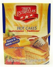 Picture of Tres Estrellas Traditional Hot Cakes - Pancakes 17.6oz/500gr.- Item No.10055