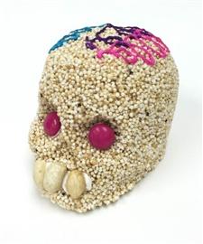 Picture of Calavera de Amaranto Dia de Muertos - Amaranth Skull- Item No.10069-a