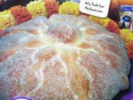Picture of Pan de Muerto - Mexican Day of the Dead Bread - Medium Size 16 oz - Item No. 10069