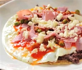 Picture of Eggs Motulenos - Huevos Motule�os Recipe - Item No. 101-eggs-motulenos