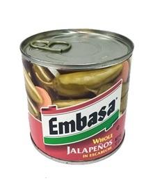 Picture of Jalapenos - Embasa Whole Jalapenos in Escabeche 12 oz.- Item No.1100