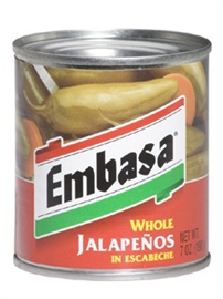 Picture of Embasa Whole Jalape�os in Escabeche 7 oz (Pack of 3) - Item No. 1110