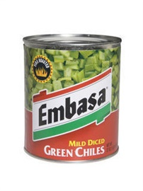 Picture of Embasa Diced Green Chiles 27 oz - Mild - Item No. 1142