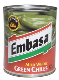 Picture of Mild Green Chiles Whole by Embasa 27 oz. - Item No. 1146