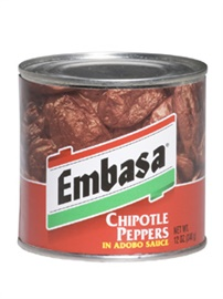 Picture of Embasa Chipotle Peppers in Adobo Sauce 12 oz.- Item No.1147