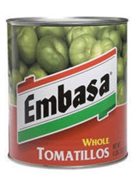 Picture of Embasa Whole Tomatillos 98 oz. - Item No. 1174