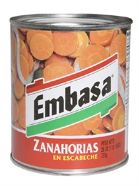 Picture of Embasa Carrots in Escabeche - Zanahorias en Escabeche 26 OZ - Item No. 1177