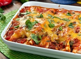 Picture of Chicken Enchiladas Mexican Recipe - Item No. 121-chicken-enchiladas-ii