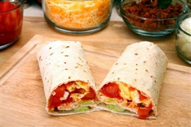 Picture of Egg and Potato Burrito Recipe - Item No. 124-egg-and-potato-burrito