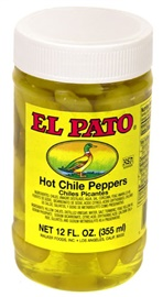 Picture of El Pato Hot Chile Peppers - Yellow Peppers 12 FL. OZ. - Item No. 1271
