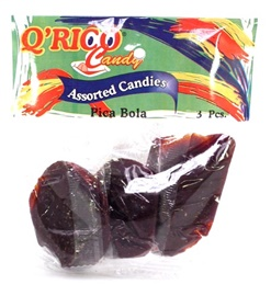 Picture of Que Rico Candy Pica Bola (3 piece bag) 10 pack - Item No. 12900-00021