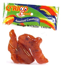 Picture of Que Rico Candy Mango with Chile (1.625 oz each) 10 pack - Item No. 12900-00031