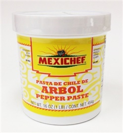 Picture of Chile de Arbol - Mexichef Arbol Pepper Paste 1 lb. - Item No. 13005
