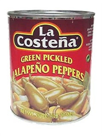 Picture of Jalapenos - La Costena Whole Jalapeno Peppers 26 oz. - Item No. 1311