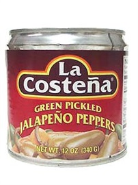 Picture of La Costena Whole Jalapenos 12 oz. - Item No. 1312