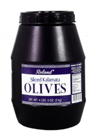 Picture of Kalamata Olives - Roland Sliced Kalamata Olives - 72 oz- Item No.13207