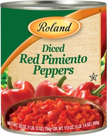 Picture of Pimientos - Roland Diced Red Sweet Peeled Pimientos - 27.5 oz - Item No. 13215