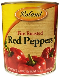 Picture of Red Peppers - Roland Fire Roasted Red Peppers - 28 oz- Item No.13216