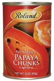 Picture of Papaya - Roland Papaya Chunks - 15 oz - Item No. 13225