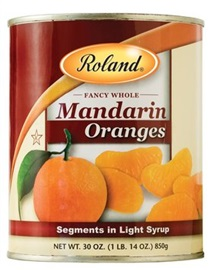 Picture of Mandarin - Roland Whole Mandarin Orange Segments - 30 oz - Item No. 13226