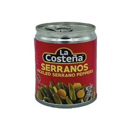 Picture of La Costena Serrano Peppers 7 oz (Pack of 3) - Item No. 1345