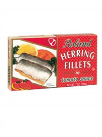 Picture of Herring - Roland Herring Fillets in Tomato Sauce 7oz - Item No. 13504