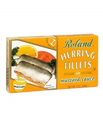 Picture of Roland Herring Fillets in Mustard Sauce 7oz - Item No. 13505