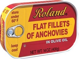 Picture of Roland Flat Fillets of Anchovies in Olive Oil 14 oz- Item No.13509