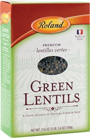 Picture of Roland Green Lentils 2 lb - Item No. 13536