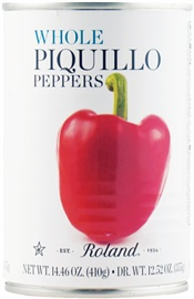 Picture of Roland Whole Piquillo Peppers 14.46 oz - Item No. 13584