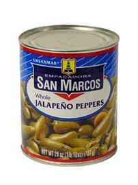 Picture of San Marcos Whole Jalapeno Peppers 26 oz- Item No.1360