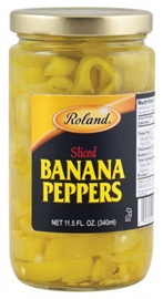 Picture of Roland Sliced Banana Peppers 11.5 oz- Item No.13617