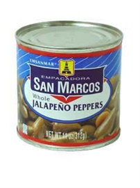 Picture of San Marcos Whole Jalapeno Peppers 11 oz - Item No. 1362