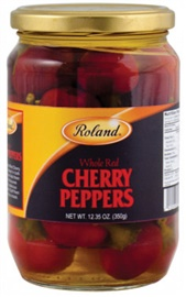 Picture of Roland Whole Red Cherry Peppers 24 oz - Item No. 13620