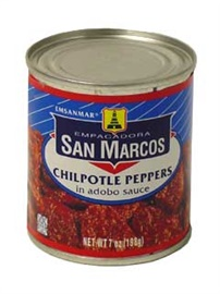 Picture of San Marcos Chipotle Peppers in adobo sauce 7 oz (Pack of 3) - Item No. 1363
