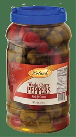 Picture of Roland Whole Cherry Peppers Red and Green- Item No.13652