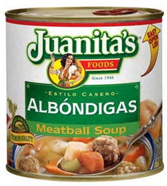 Picture of Juanita's Meatball Soup - Albondigas 25 oz. - Item No. 1389