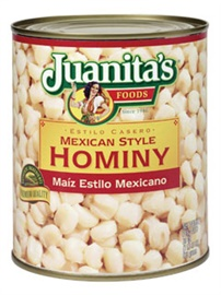 Picture of Juanita's Mexican-Style White Hominy #10 can - Item No. 1392