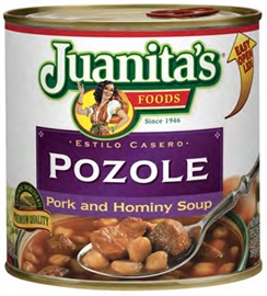 Picture of Pozole - Pork & Hominy Soup by Juanita's - Item No. 1393